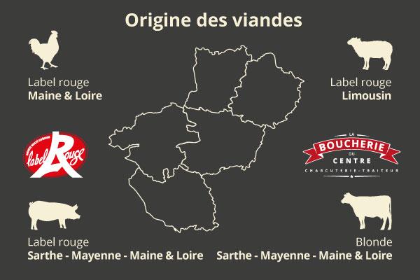 Boucherie Charcuterie et la provenance des viandes à Beaufort-en-Anjou